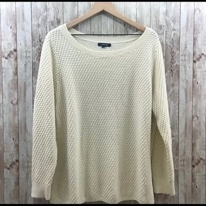 Lands End Knit Sweater Scoop Neck Style